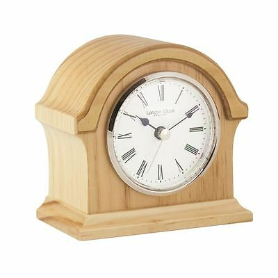 London Clock Co 13cm Leichtes Holz Break Bogen TOP Kaminsims Uhr