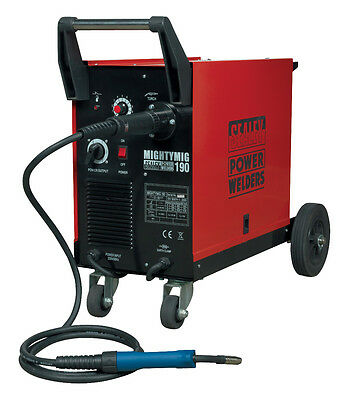 Sealey 190AMP Professional Euro Torch Gas/Gasless MIG Welder 240v MIGHTYMIG190