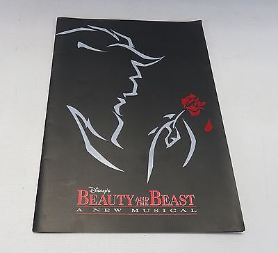 Disney's Beauty And The Beast A New Musical Paperback Program