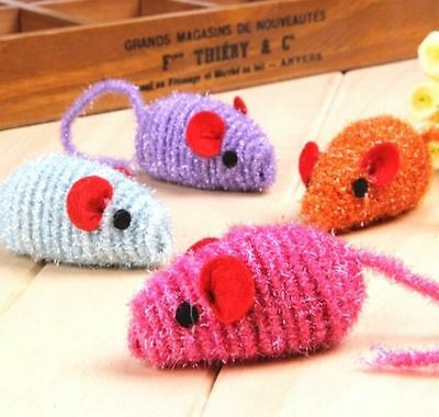 FD3463 Red Ear Mouse Mice Kitten Cat Pet Chase Scratching Activity Play Toy 1pc^