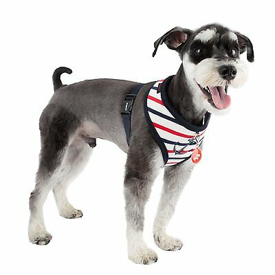 New For 2016 Puppia Deluxe Capitane Dog Puppy Harness Red Or Aqua Blue