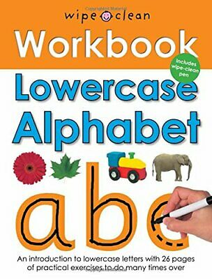 Wipe Clean Work Books: Lowercase Alphabet by Roger Priddy Spiral bound Book The