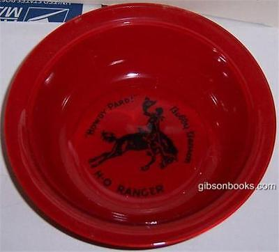 Vintage Howdy Pard Bobby Benson H-O Ranger Red Fired On Cereal Bowl