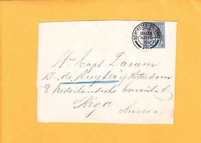 Great Britain FRONT 1899 Newcastle On Tyne Capt Damm Netherlands Consul Riga Z86