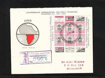 South Africa GREAT, TIED Johannesburg Philatelic Exhibition 1936 Registered z74