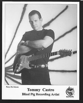VINTAGE ORIGINAL Ltd Edition Promo Photo 8x10 Early Tommy Castro Blind Pig c1995