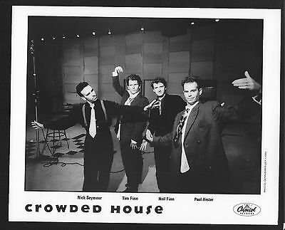 VINTAGE ORIGINAL Ltd Edition Promo Photo 8x10 Crowded House Tim Neil Finn 1991
