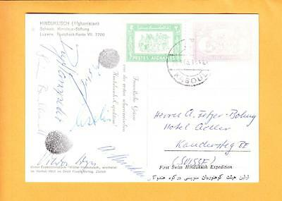 Kaboul 1963 Afghanistan 1st Swiss Hindukusch Expedition SIGNED Switzerland z58