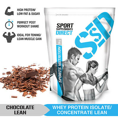 2Kg Lean Whey Protein Powder - Chocolate & Vanilla - Isolate / Concentrate