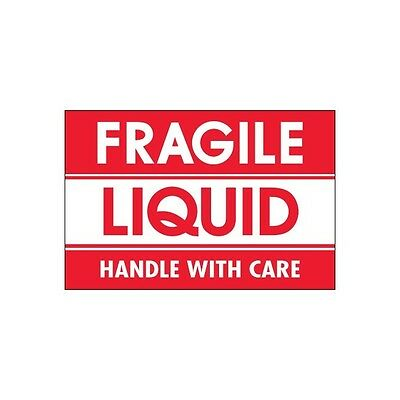 """Tape Logic Labels, """"Fragile - Liquid - Handle With Care, 2""""x3"""", 500/Roll"""