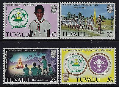 1982 TUVALU 75th ANNIVERSARY OF SCOUTING SET OF 4 FINE MINT MNH/MUH