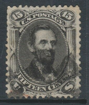 USA - 1862/6, 15c Black stamp - Used - SG 73a (Cat. £200)