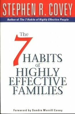 7 Habits Of Highly Effective Families by Covey, Stephen R. Paperback Book The