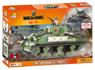 Cobi 3007 - World Of Tanks - Us M4 Sherman A1 Firefly - Neu