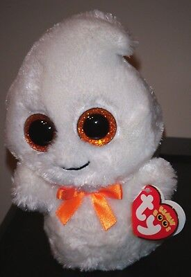 "Ty Beanie Boos ~ GHOSTY the 6"" 2013 Ghost  ~ Exclusive ~ MINT with MINT TAGS"
