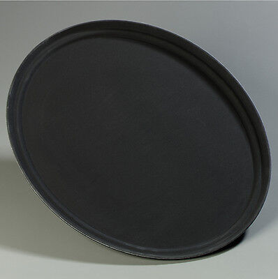 Carlisle Food Service Products Griptite™ Oval Tray Black