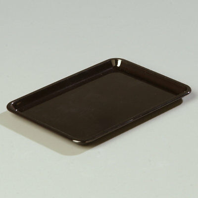Carlisle Food Service Products Rectangular Tip Tray Black Set of 36