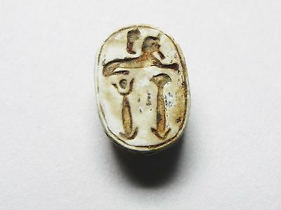 Zurqieh -Cy72- Ancient Egypt , Elegant Steatite  Scarab. New Kingdom .1400 B.c