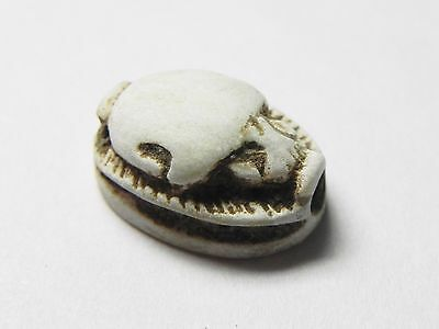 Zurqieh -Cy82- Ancient Egypt , Elegant Steatite  Scarab. New Kingdom .1400 B.c