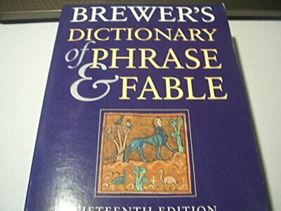Brewer's Dictionary of Phrase and Fable Paperback Book The Cheap Fast Free Post