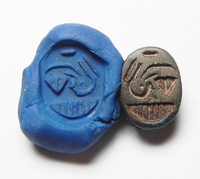 Zurqieh -Cy93-  Ancient Egypt, New Kingdom. Brown Stone Scarab 1400 B.c