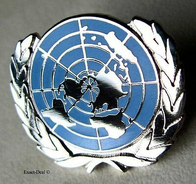 U.N UN United Nations  Peacekeeping Silver Plated Lapel Pin