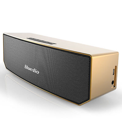 Bluedio BS-3 Bluetooth Wireless Stereo 3D Portable Mini Mic Home Speakers Gold