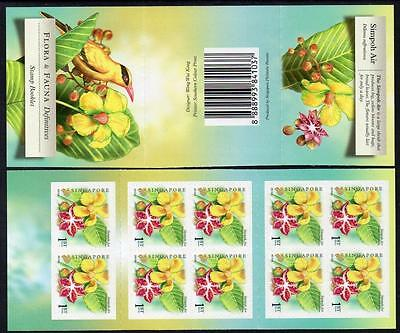 SINGAPORE MNH 2010 Flora and Fauna (Simpoh Air) Booklet complete.