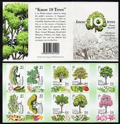 SINGAPORE MNH 2010 Know 10 Trees Booklet complete.