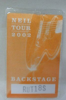 Original 2002 Neil Diamond Concert Crew Worker Back Stage Pass