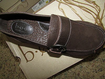 0a00e772958 New Born B.o.c Huffman Brown Loafer Shoes Womens 8.5 C97023 Suede Free Ship