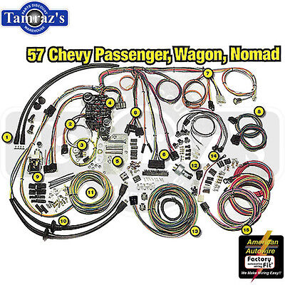 1957 chevy classic update series complete body & interior wiring harness kit