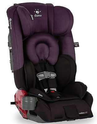 Diono Radian RXT Black Plum Convertible + Booster Folding Child Safety Car Seat