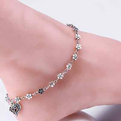 Silver Plated Chain Anklet Ankle Bracelet Barefoot Sandal Beach Foot Jewelry Hot
