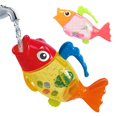 Cute Children Baby Toy Swimming Fish Bath Discolored Toys Nice New
