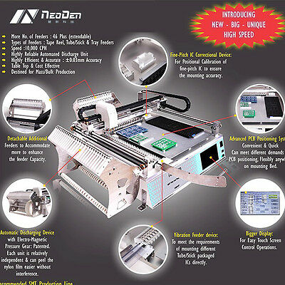 NeoDen SMT pick and place machine TM245P SMD chip mounting machine, 0402,5050