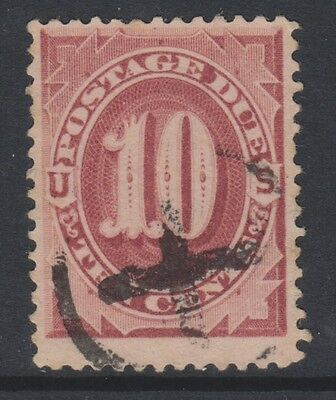 USA - 1891/3, 10c Bright Claret Postage Due stamp - Used - SG D239