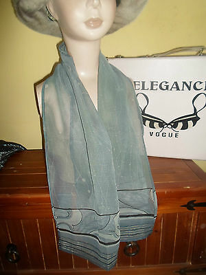1 NEW Mixed Fibre Ladies CHIC GREY Scarf  Gift Idea #92 • EUR 4,37