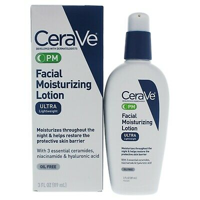 Cerave Facial Moisturizing Lotion Pm Normal To Dry Skin 3 Oz Lotion