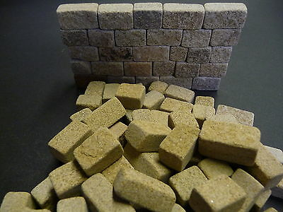 33sq ins 12mm Miniature York Cottage Stone Blocks *BUILD REAL STONE MODELS FAST*