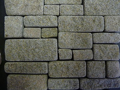 25 sq ins 1:12th Scale REAL GREY STONE Miniature Cottage Stone Building Blocks