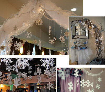 Christmas Snowflake Party Hanging Decor Xmas Tree Window Ornament Strings