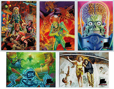 Mars Attacks Invasion Masterpieces Complete 5 Card Chase Set
