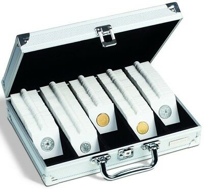 Aluminum Lighthouse Coin Case will hold 650 Coin Holders or 150 Quadrums