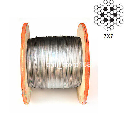 304 Stainless Steel Cable Wire Rope 0.5mm to 1.5mm  free shipping