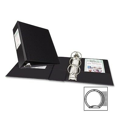 """Avery Durable EZ-Turn Reference 3-Ring Binder, 8.5 x 5.5, 2"""", Black- AVE27554"""