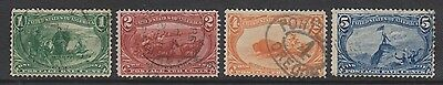 USA - 1898/1900, 1c - 5c Trans Mississippi Expedition stamps - Used - SG 291/4