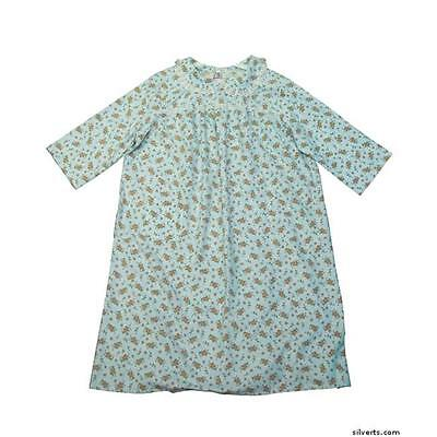 Silverts Womens Patient Hospital Flannel Adaptive Nightgown 4XL, Assorted Prints