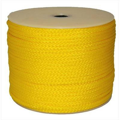T.W. Evans Cordage 27-303 .25 in. x 1000 ft. Hollow Braid Polypro Rope in Yellow