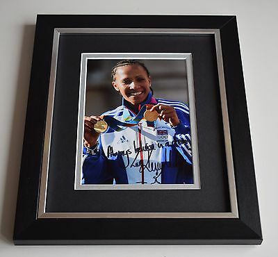 Dame Kelly Holmes SIGNED 10X8 FRAMED Photo Autograph Olympics AFTAL & COA